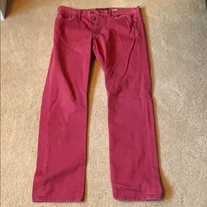 Men's Lucky Brand Red Jeans. Size W:34 L:32